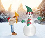 6 Foot Christmas Inflatables Airblown Giant Snowman Xmas Blow Up Decorations for Yard Garden Home Holiday Indoor or Outdoor