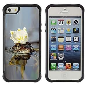 LASTONE PHONE CASE / Suave Silicona Caso Carcasa de Caucho Funda para Apple Iphone 5 / 5S / cvetok korona voda