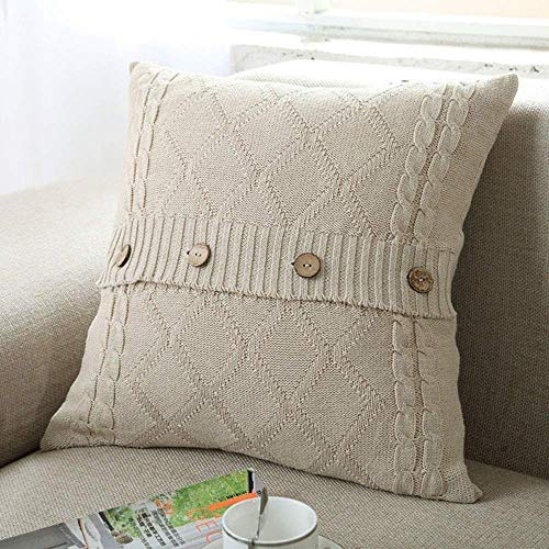 DOUH Cable Knit Pillow Cover 18