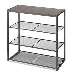 Whitmor Wood & Metal 4-Tier Shelf