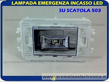 Lampada emergenza da incasso a led scatola 503 auton. 3h: amazon.it