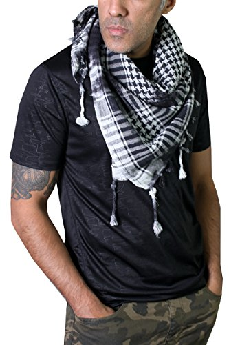 Anika Dali Charleston Rugged Distressed Army Desert Tactical Shemagh Scarf by Anika Dali