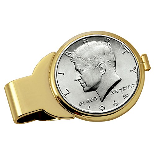Smithsonian Institution JFK 1964 First Year of Issue Half Dollar Goldtone Coin Money (Gold Tone Museum)