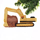 Excavator Digger Christmas Ornament Personalized with your Choice of Name and Year.