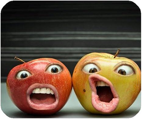 Manzanas con caras personalizados Rectángulo ...
