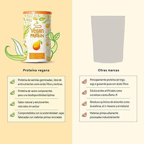 Proteina Vegana | MANGO | Proteína vegetal de arroz, guisantes, semillas de lino, amaranto, semillas de girasol y semillas de calabaza germinadas | ...