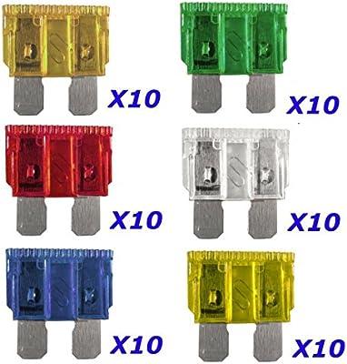 Pack Of  20  10 Amp Blade Standard Car /& Van Fuses