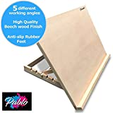 PABLO - Premium A2 Art & Craft Work Station - A2 Adjustable Wooden Desk / Table Easel / Drawing Board - Ideal for sketching, drawing & planning - Made from Beechwood - 5 different angles (A2)