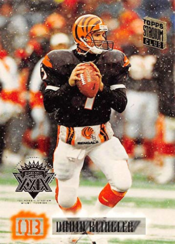 1994 Stadium Club Super Teams Super Bowl Football #115 David Klingler Cincinnati Bengals Official NFL Trading Card From Topps -