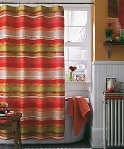 J Queen Cordoba Stripe Fabric Shower Curtain