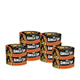Gorilla Tape, Black Duct Tape, 1.88'' x 12 yd, Black, (Pack of 10)