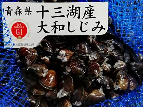 産直丸魚 青森十三湖産 活シジミ貝(小粒) 1kg入 G1(農林水産省:地理的表示保護制度)認定品の高品質しじみ貝です