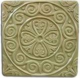 Garden Molds X-MEDTIL8049 Medieval Tile Stepping Stone Mold- Set of 2 For Sale