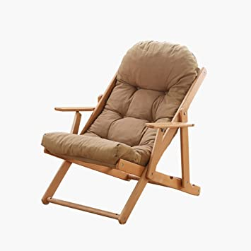 Amazon.com: XUE Balcony Loungers Solid wood sofa chairs ...