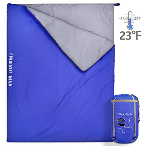 215e55f9e1 Forbidden Road Double Sleeping Bag Winter -5 ℃  23 ℉ 2 Person Waterproof  Lightweight