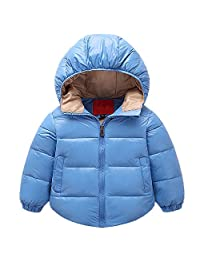 QJH Little Kids Hoodie Lightweight Bubble Down Jacket