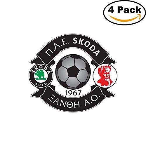 Skoda Xanthi FC Greece Soccer Football FC Decal Logo 4 Stickers 4X4