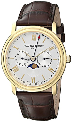 - Frederique Constant Men's FC270SW4P5 Business Time Stainless Steel Watch With Brown Leather Band