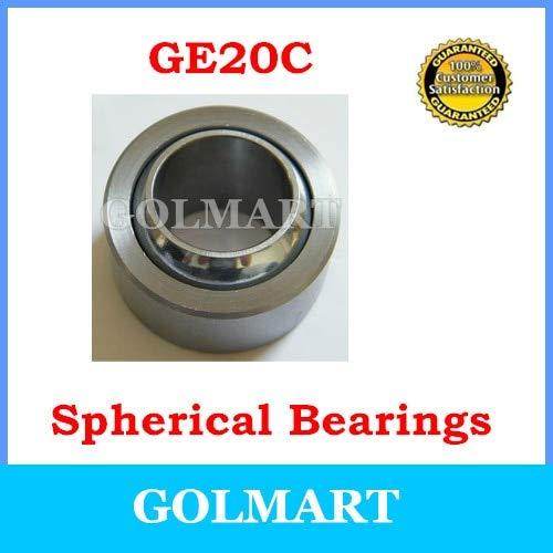 Fevas 2pcs GE20C Spherical Bushing Plain Bearing for 20mm Guide