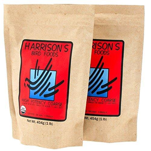 Harrison's High Potency Coarse (454g 1 lb Bag) - Pack of 2 by Harrison's Bird Foods