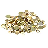 Nizi Jewelry Gold Plated Color Round Flatback Acrylic Rhinestones Shiny Stones Nail Decals (5mm 10000pcs)