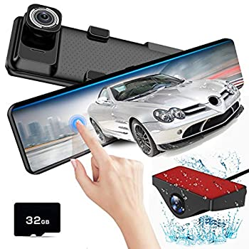 Image of AKEEYO X2 Mirror Dash Cam for Cars 12' IPS Touch Screen FHD 1080P Front and Rear Dash Camera with HDR, Night Vision, Parking Monitor, Reverse Image, G-Sensor, Loop Recording In-Mirror Video