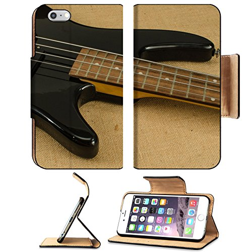Luxlady Premium Apple Iphone 6 Plus Iphone 6S Plus Flip Pu Leather Wallet Case Image Id  34755576 Part Of Electric Bass Guitar On Brown Sack Background