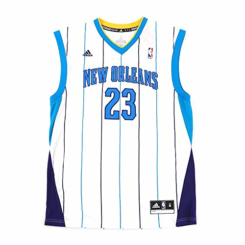 25706c1af ... adidas Anthony Davis New Orleans Hornets NBA Men s White Official  Replica Jersey. 🔍. Jersey
