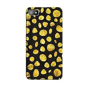 Cover It Up - Black Gold pebbles BlackBerry Z10 Hard case