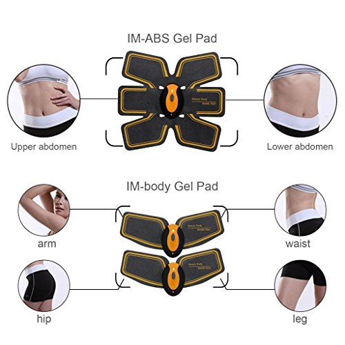 MEILYLA Abdominal Toning Belt Muscle Toner Wireless Muscle Exercise EMS ABS Trainer For Abdomen/Arm/Leg Training Men Women