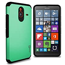 Lumia 640 XL Case, CoverON® [Slim Guard Series] Slim Dual Layer Armor Hard Cover Thin TPU Phone Case For Microsoft Lumia 640 XL - Teal & Black