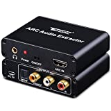 HDMI ARC Adapter, Tendak ARC Audio Extractor with Digital Optical TOSLINK SPDIF/ Coaxial and Analog 3.5mm L/R Stereo Audio Converter for HDTV Soundbar Speaker Amplifier