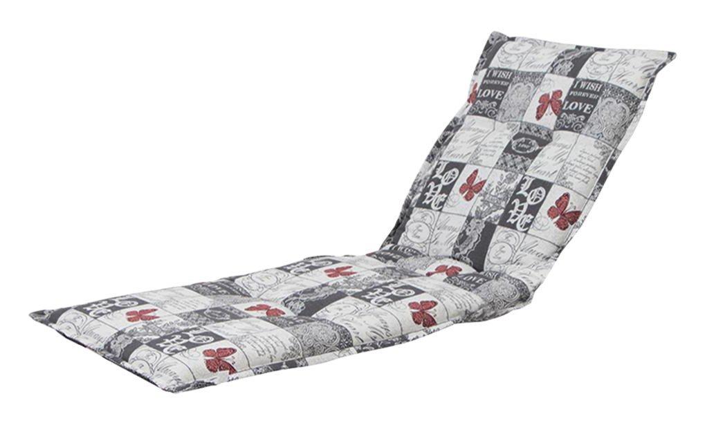 H.G. 5477165 Auflage Dessin Kiruna für Liege, 75% Baumwolle 25% Polyester, 190 x 63 x 9 cm