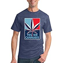 Yes We Cannabis   Poster Parody   Mens Weed Graphic T-Shirt