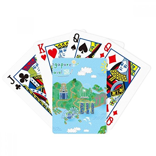 beatChong Singapore Travel Map Poker Playing Card Tabletop Board Game Gift by beatChong