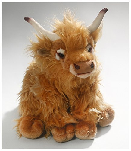 Carl Dick Cow, Highland Cow, 11 inches, 28cm, Plush Toy, Soft Toy, Stuffed Animal ()