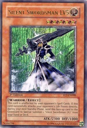 Flaming Eternity Single (Yu-Gi-Oh! - Silent Swordsman LV5 (FET-EN008) - Flaming Eternity - Unlimited Edition - Ultimate Rare)