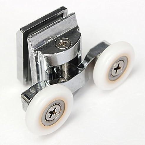 2 stck duschtr obere rollen verstellbar fr duschkabine schiebetr 23mm - Duschtur Rollen