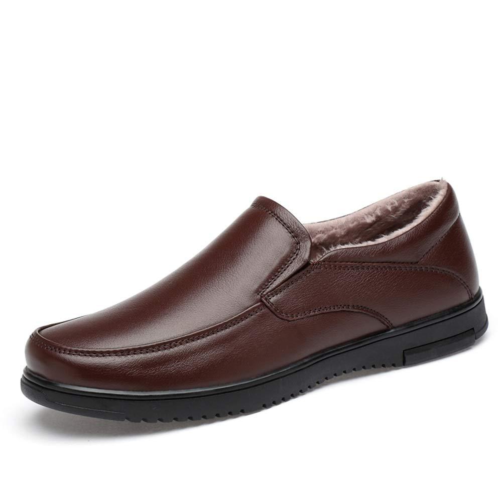 Warm marron 40 EU Chaussures Richelieu pour Hommes Chaussures habillées Ox en Cuir Semelle Souple pour Entreprise décontractée,Chaussures de Cricket