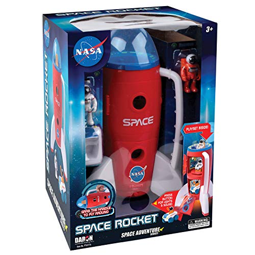Daron PT63114 Adventure Series: Space Rocket with Lights, Sounds & Figurines, - Toy Adventure Nasa