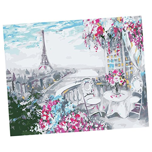Baosity デジタルペインティング アートの装飾 フレームなし DIY絵画 全8スタイル選べ - #1の商品画像