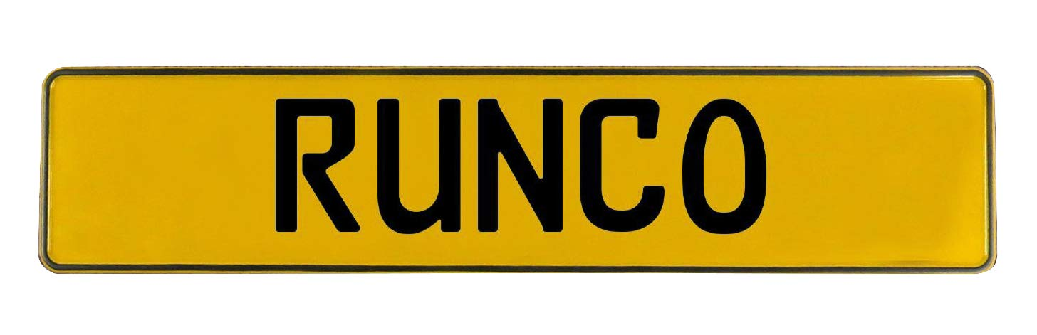 Runco Yellow Stamped Aluminum Street Sign Mancave Vintage Parts 747118 Wall Art