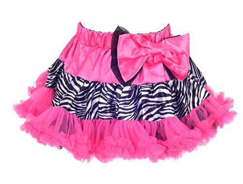 Dressy Daisy Girls' Fluffy Pettiskirts Petticoats Skirts Dance Tutu Size 4/5T Hot Pink With Zebra (Hot Pink Pettiskirt Tutu)