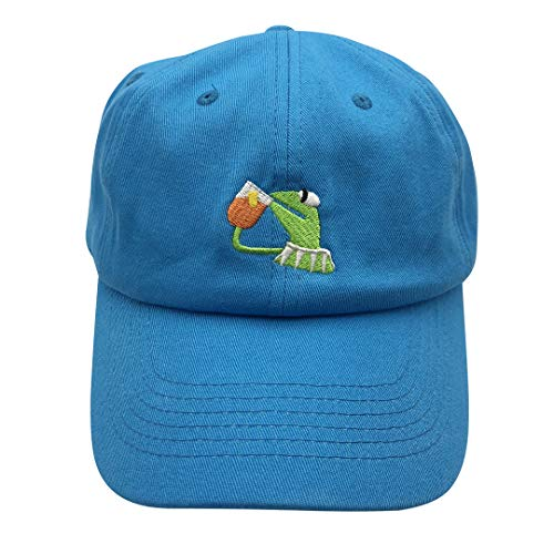 e72fc0aac25 Kermit The Frog Dad Hat Baseball Cap Sipping Sips Drinking Tea Champion  Adjustable