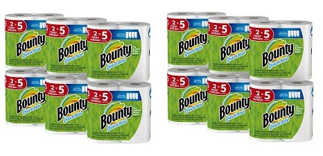 Bounty Quick-Size Paper Towels, 12 Family Rolls, White (Packaging May Vary) (2 Pack of 12)