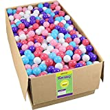 Click N Play Value Pack 1000 Phthalate Free BPA Free Crush Proof Plastic Ball, Pit Balls 5 Pretty Feminine Colors