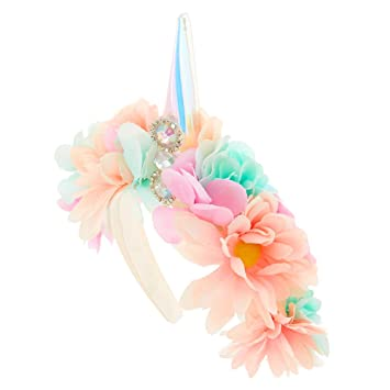Amazon.com  Claire s Girl s Light Up Unicorn Flower Crown Headband ... ad8a4a76a81