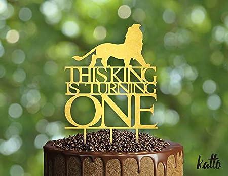 Decoración para tarta de cumpleaños, diseño de león con ...
