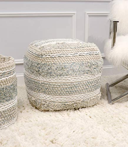 Pasargad Home Grandcanyon Collection Cotton Pouf
