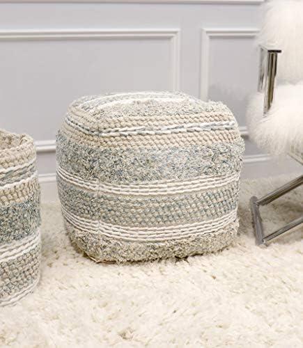 Pasargad Home Grandcanyon Collection Cotton Pouf